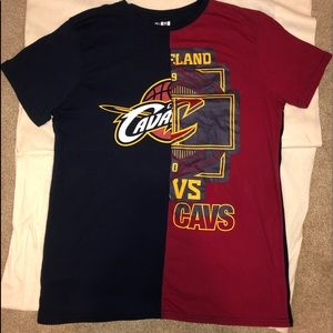 Rare split cavaliers color block double shirt!